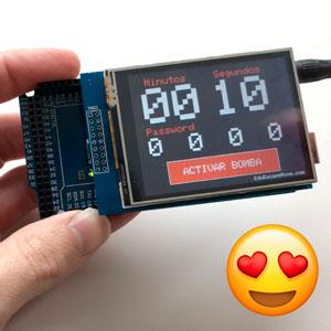 bomba eduescaperoom placa arduino y pantalla táctil tft