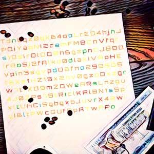 mensaje secreto con letras de colores