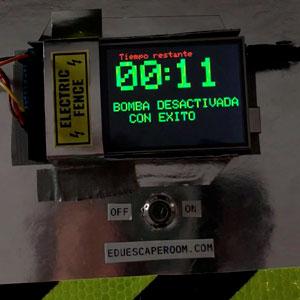 pantalla bomba arduino eduescaperoom desactivada