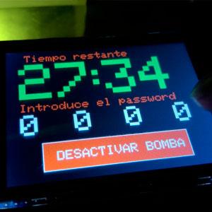 pantalla bomba arduino eduescaperoom tiempo corriendo