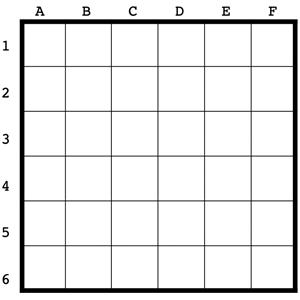 plantilla rejilla con letras y números
